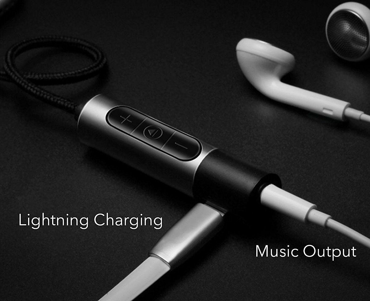 Newest Lightning to 3.5mm Audio and Charging 2 in 1 for iPhone 7