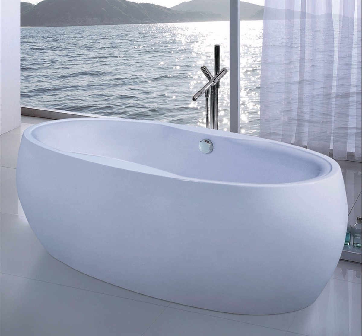 1800mm Egg Shape Freestanding Bathtub SPA (AT-9062)