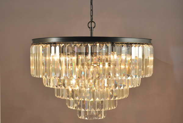 Restoration Chandelier Hanging Clear Crystal Lamp (KAD6000-22IO)