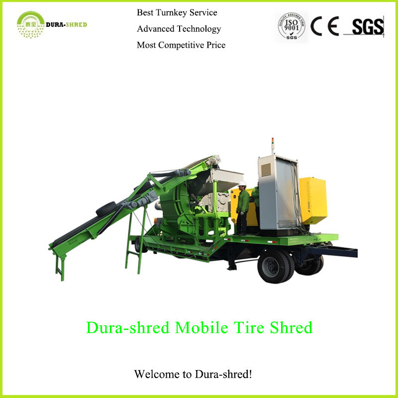 Hot Sale! Dura-Shred Portable Tire Recycling Machine for Rubber Chips