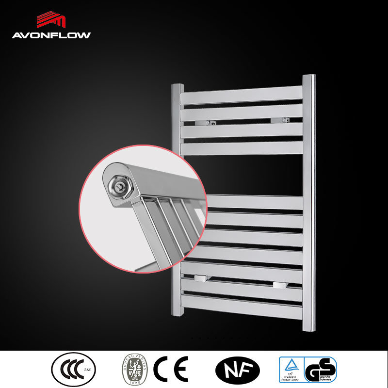 Avonflow Chrome Square Tube Electric Heated Towel Rail