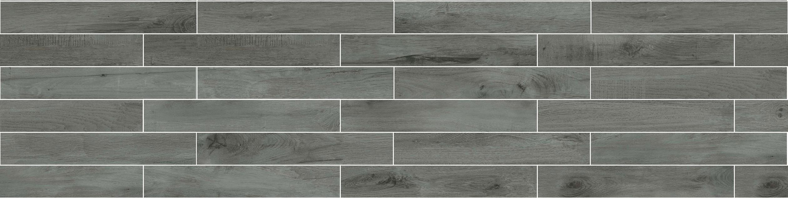 High Quality Building Material Porcelain Wood Tile Lnc2012018 Deep Grey