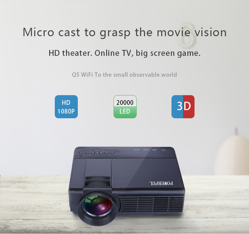 LED Projector Powerful Brand LCD Home Projector with LED Lights for Home Cinema Projector