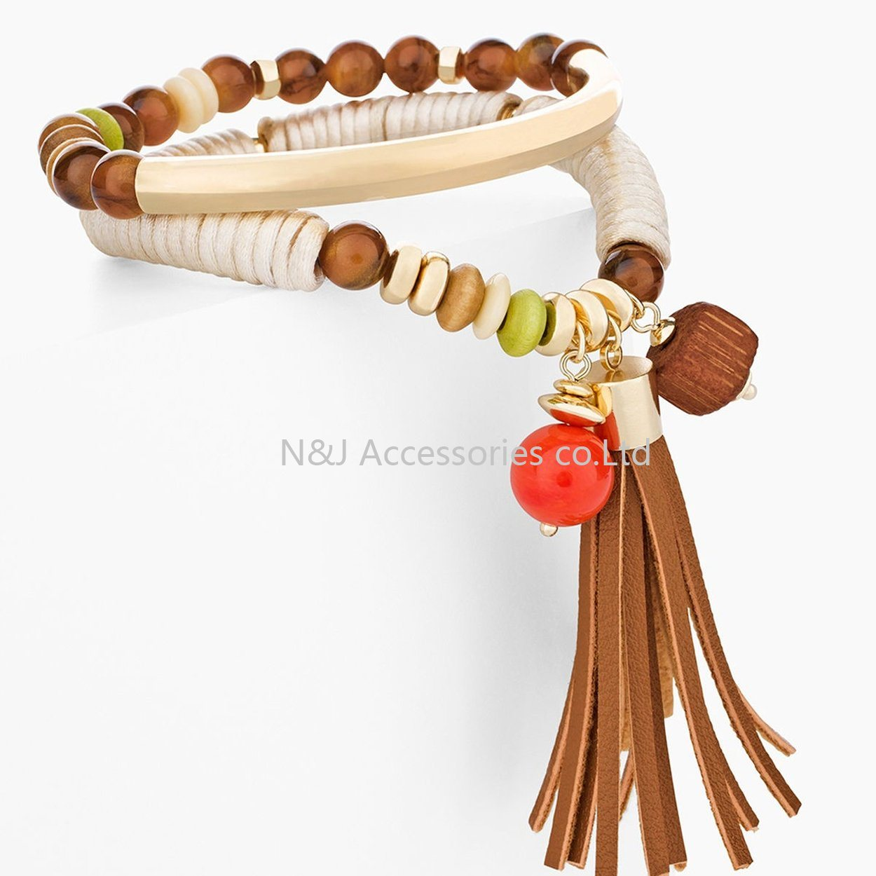 New Jewelry Fashion Infinity Leather Charm Bracelet Gold Lots Beads Style