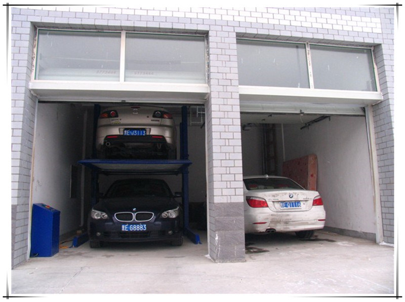 Two Post Two Layer Hydraulic Mechanical Car Garage