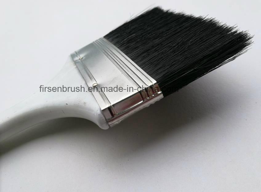 Black Bristle Paint Brush with Varnished Plastic Handle Thailand Market
