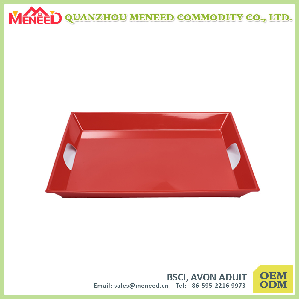 Superior Quality FDA Approved Melamine Tray with Handles