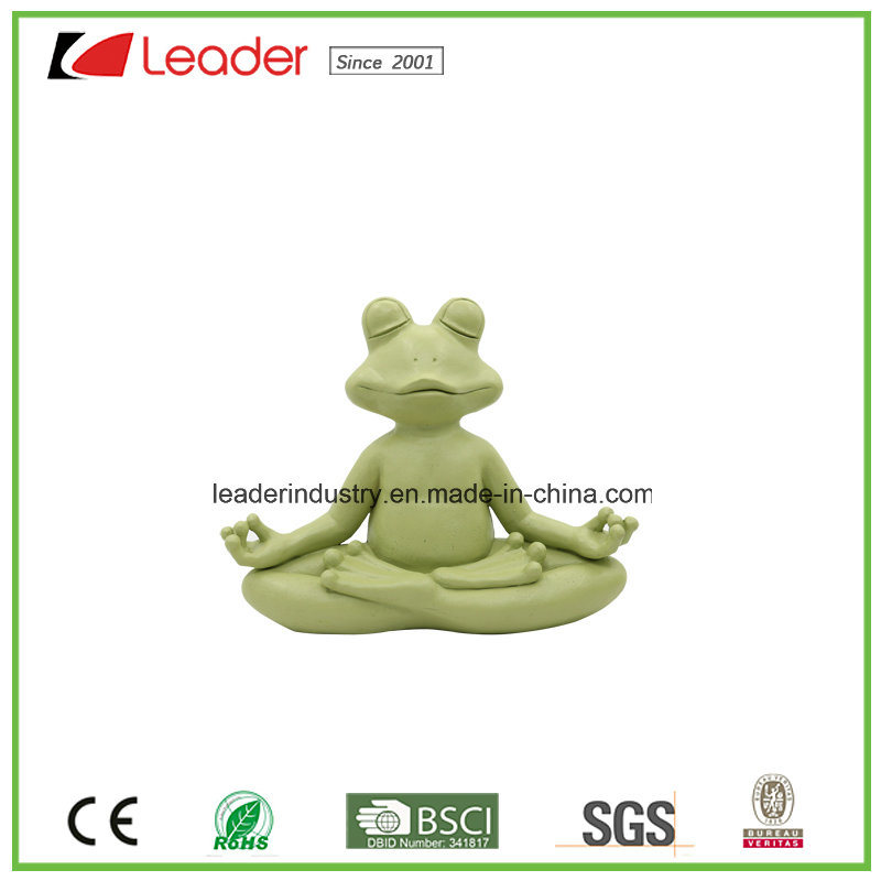 New Meditating Yoga Frog Figurine Tabletop Collectible Statues for Frog Lovers