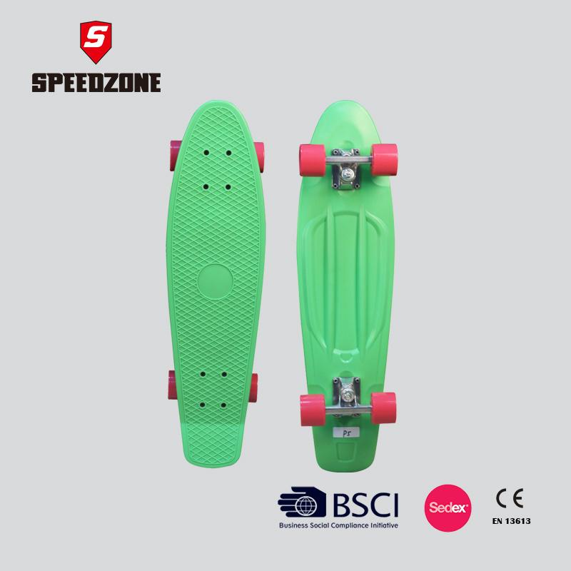 "Speedzone 28"" Single Kick Tail Plastic Skateboard"