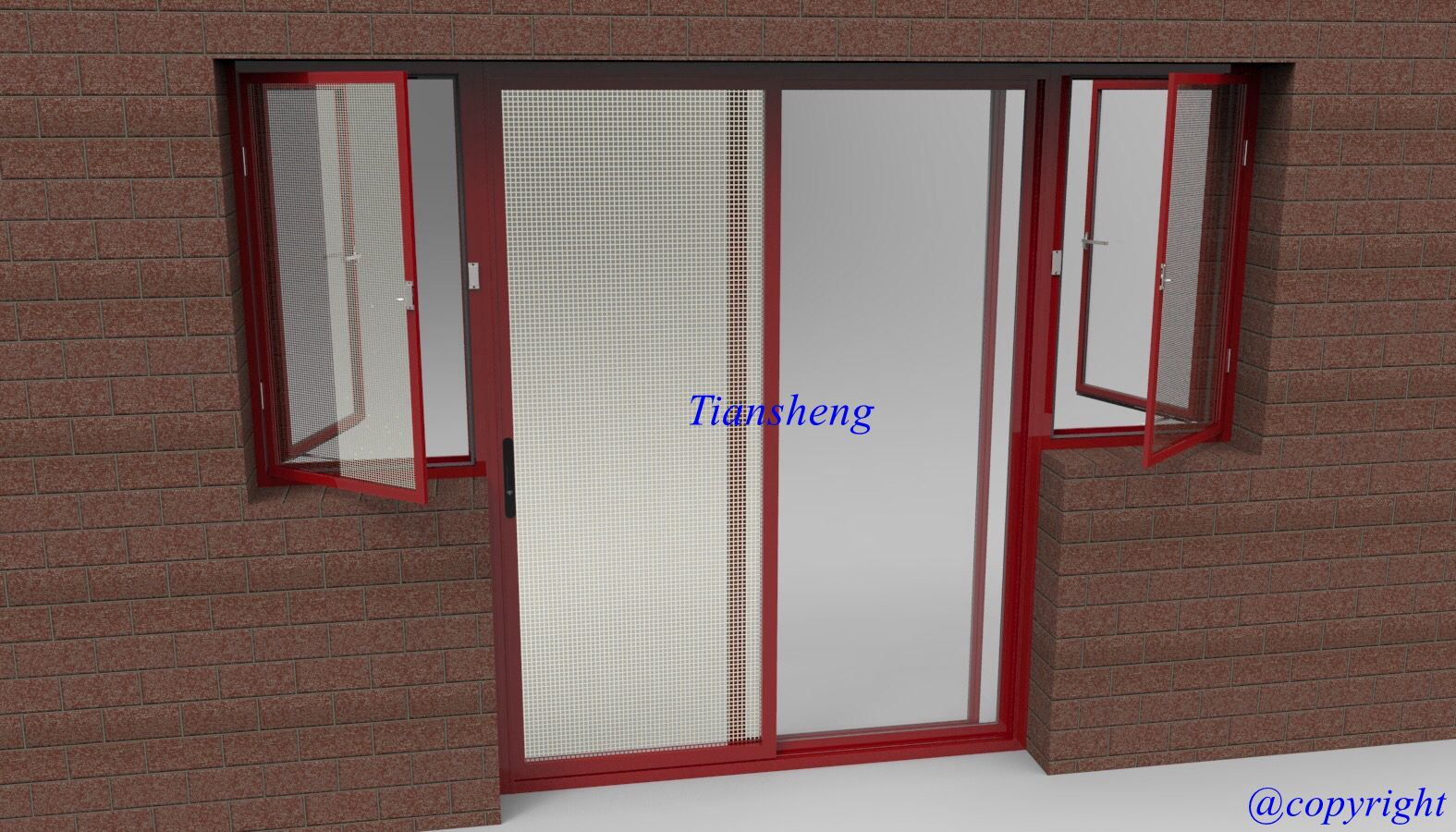 Double Glazing Aluminum Sliding Windows and Doors