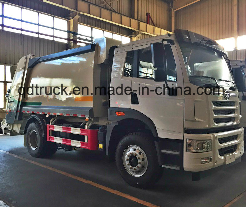 FAW garbage truck, garbage refuse compactor truck, garbage compactor truck