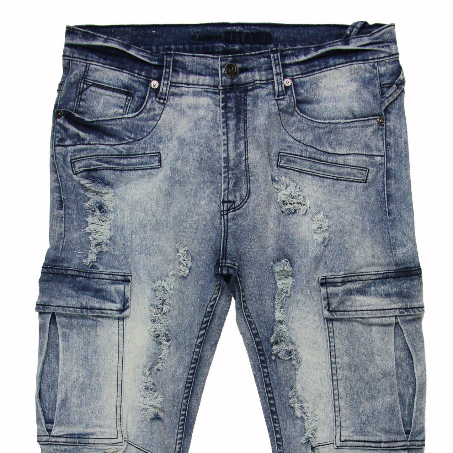 Men′s Straight Leg Slim Jeans (MYX03)