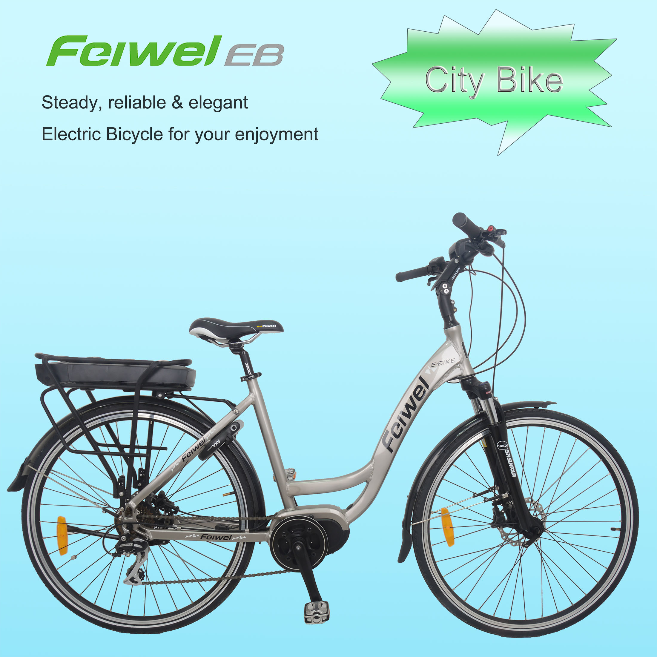China 700c Crank Motor Step Through Frame Electric Bike China