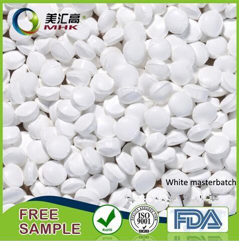 Food Grade Filler White Masterbatchs Polypropylene Granules