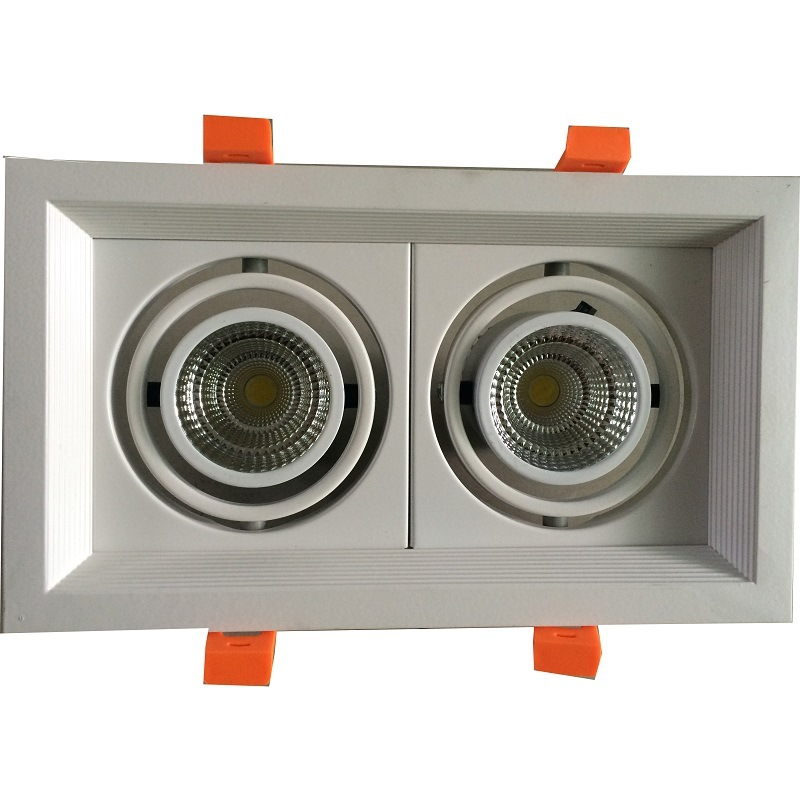 LED COB Simple Grille Light with One Head/Two Heads/Three Heads