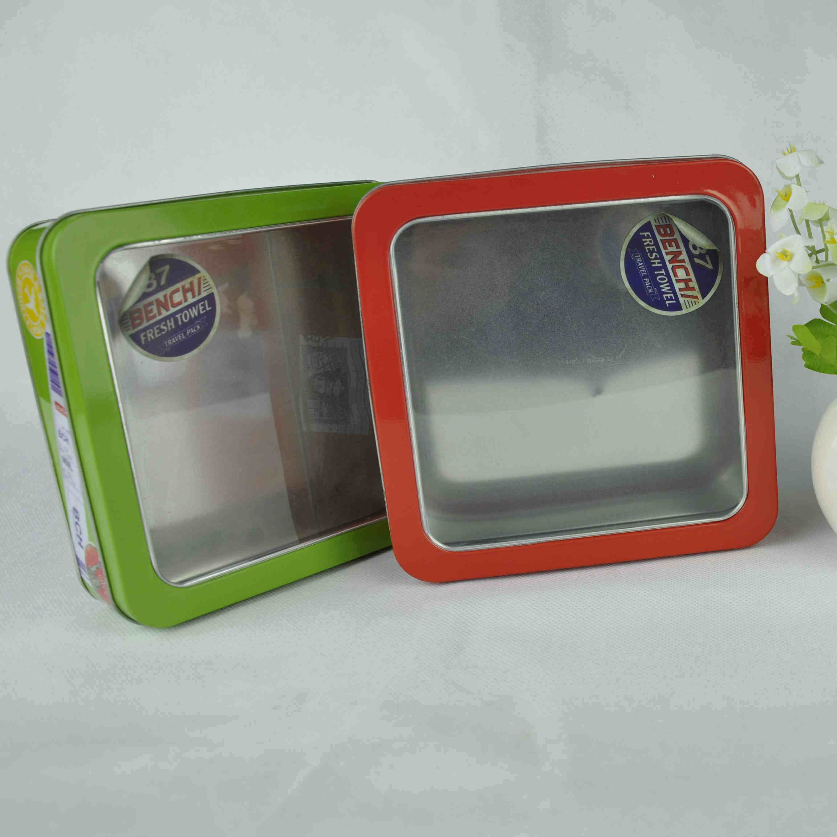 Rectangle Shaped Metal Biscuit Tin Packaging for Food Packaging