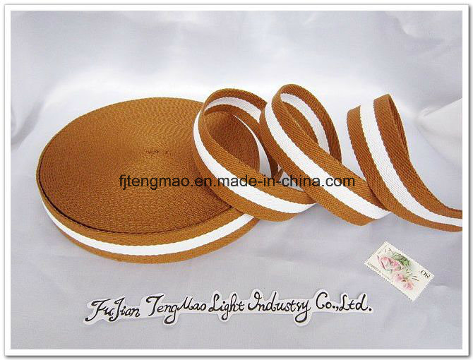 20mm Brown White Cotton Belt