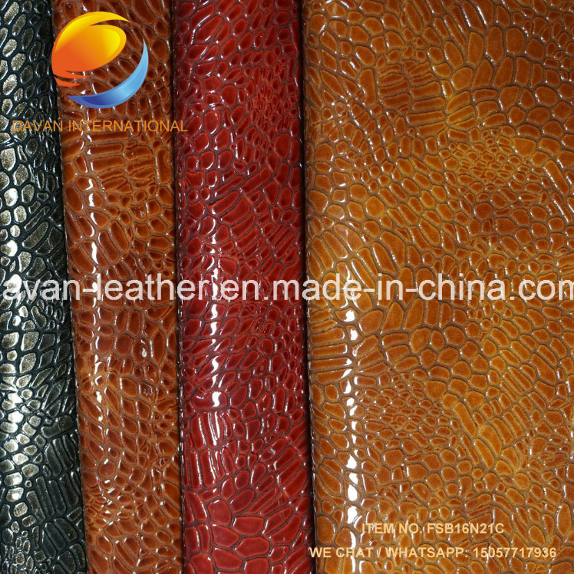 Artificial Leather Newest Design Shinny Surface for Shoes and Bags
