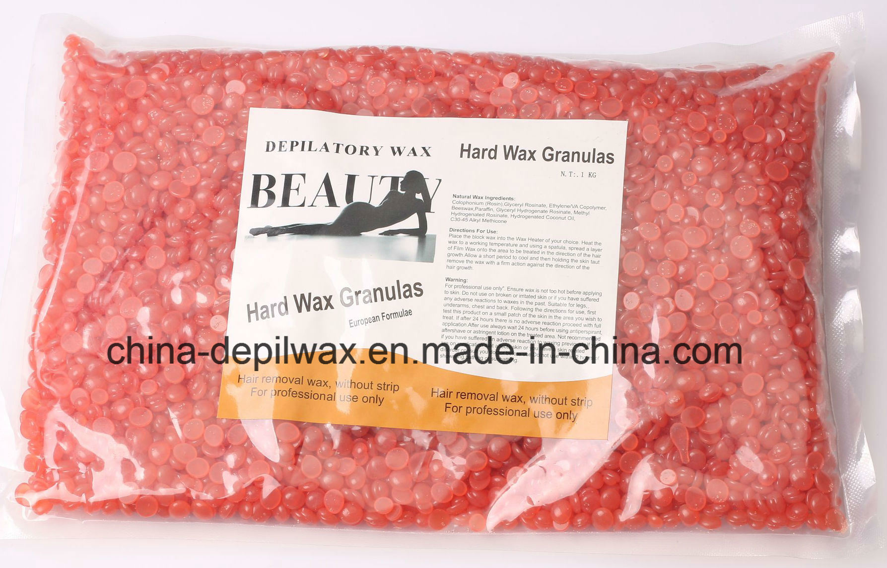 Azulene Dark Blue Hard Wax Pellets Depilatory Wax for Brazilian Waxing
