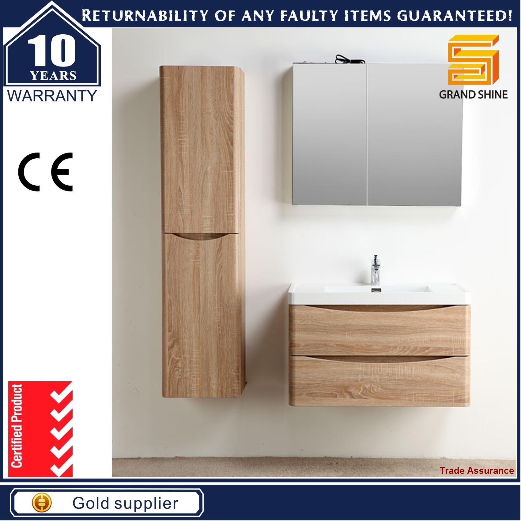 New Fashion Melamine MDF Bathroom Vanity Cabinet for Hotel