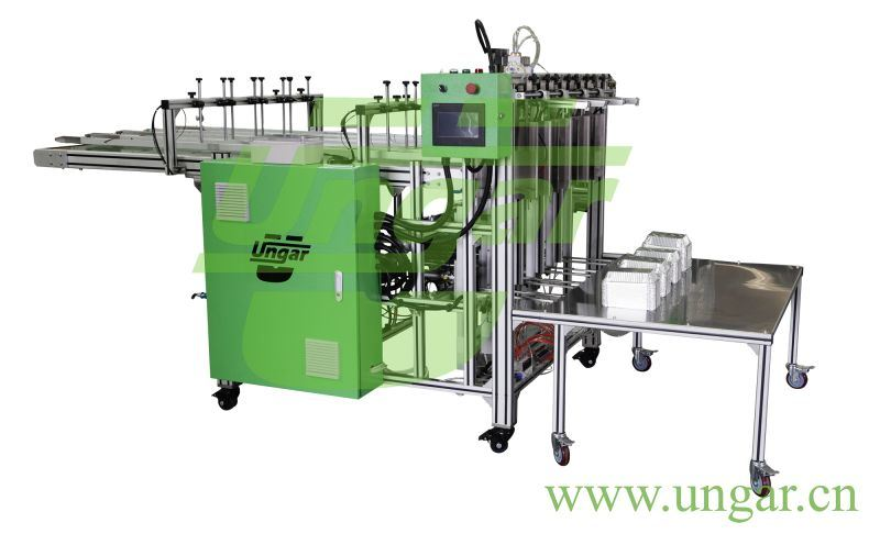 High Speed 75 Strikes/Min Aluminum Foil Container Making Machine Fully Automatic Production Line Food Package Container Forming Equipment Un-080 Ungar Machinery