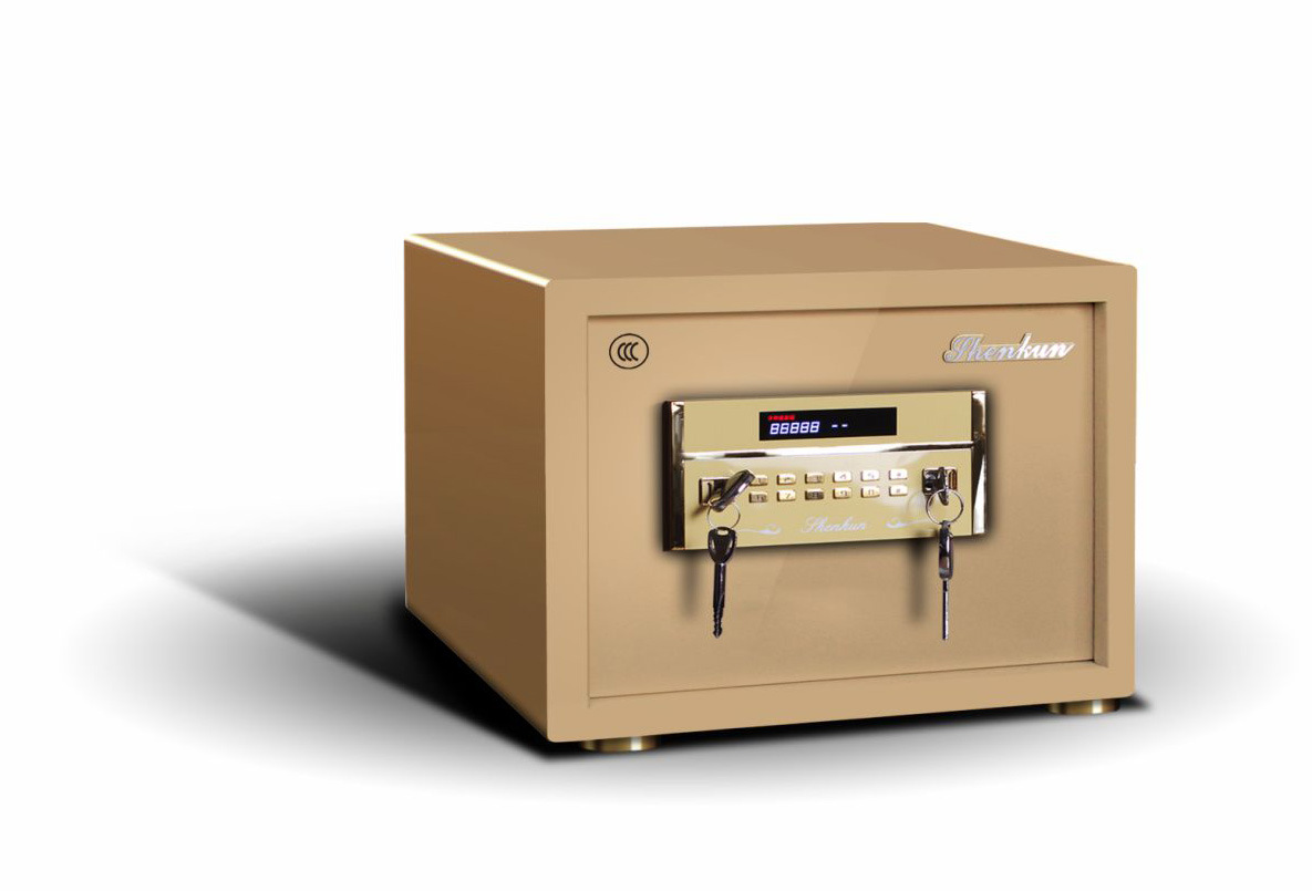Security Home Safe Box with Digital Lock-Champagne Gold Seriers