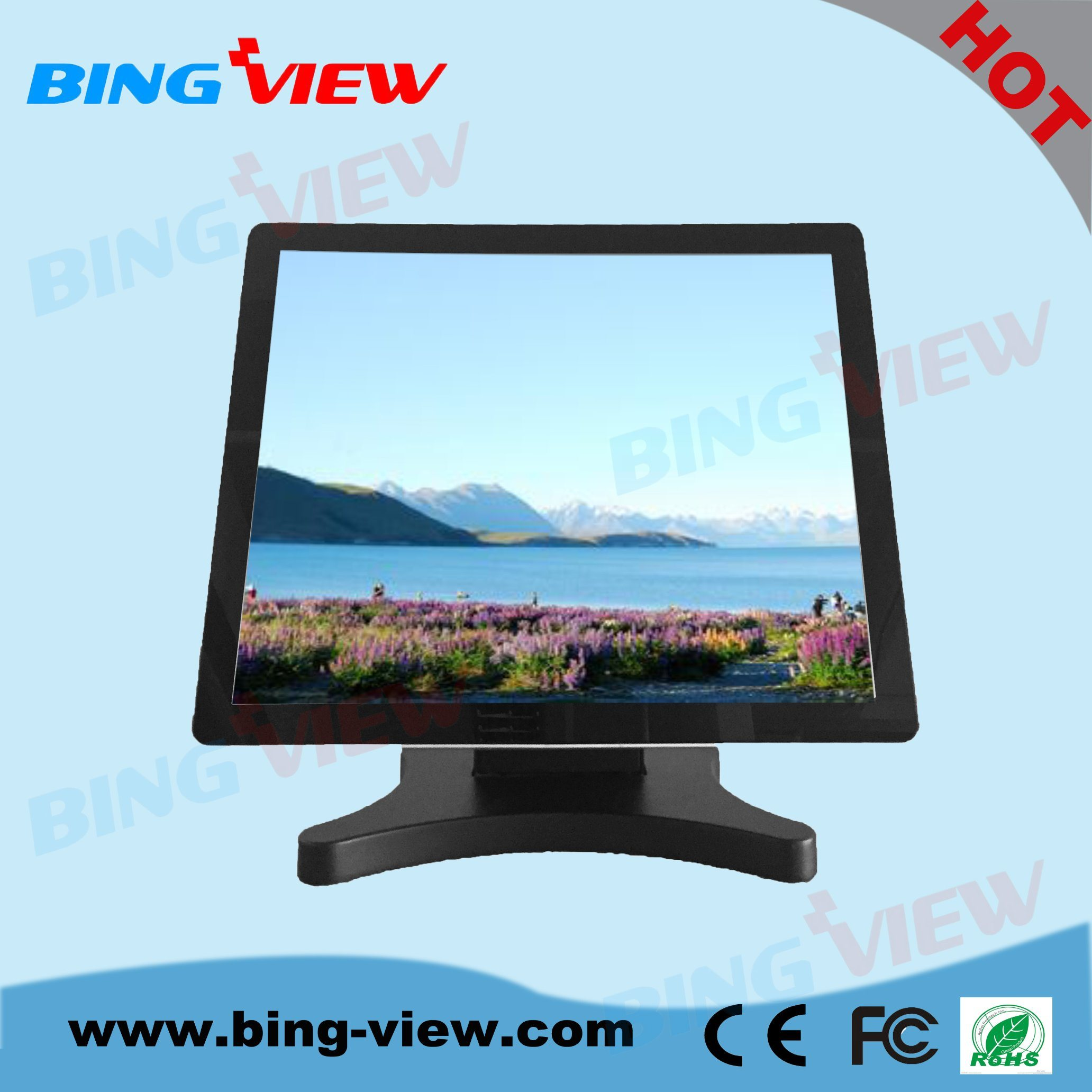 "19"" True Flat Design Commercial Point of Sales Touch Monitor Screen"