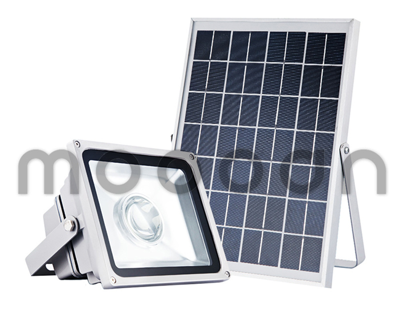 Outdoor IP65 Integrated Die Cast Aluminum 30W Solar Powered Flood Lights for Lawn