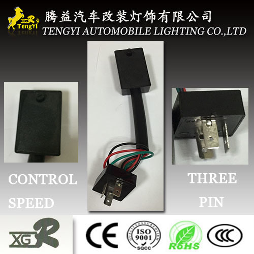 12V LED Automotive Cheap Electricauto Flasher Relay 3pin with Wire