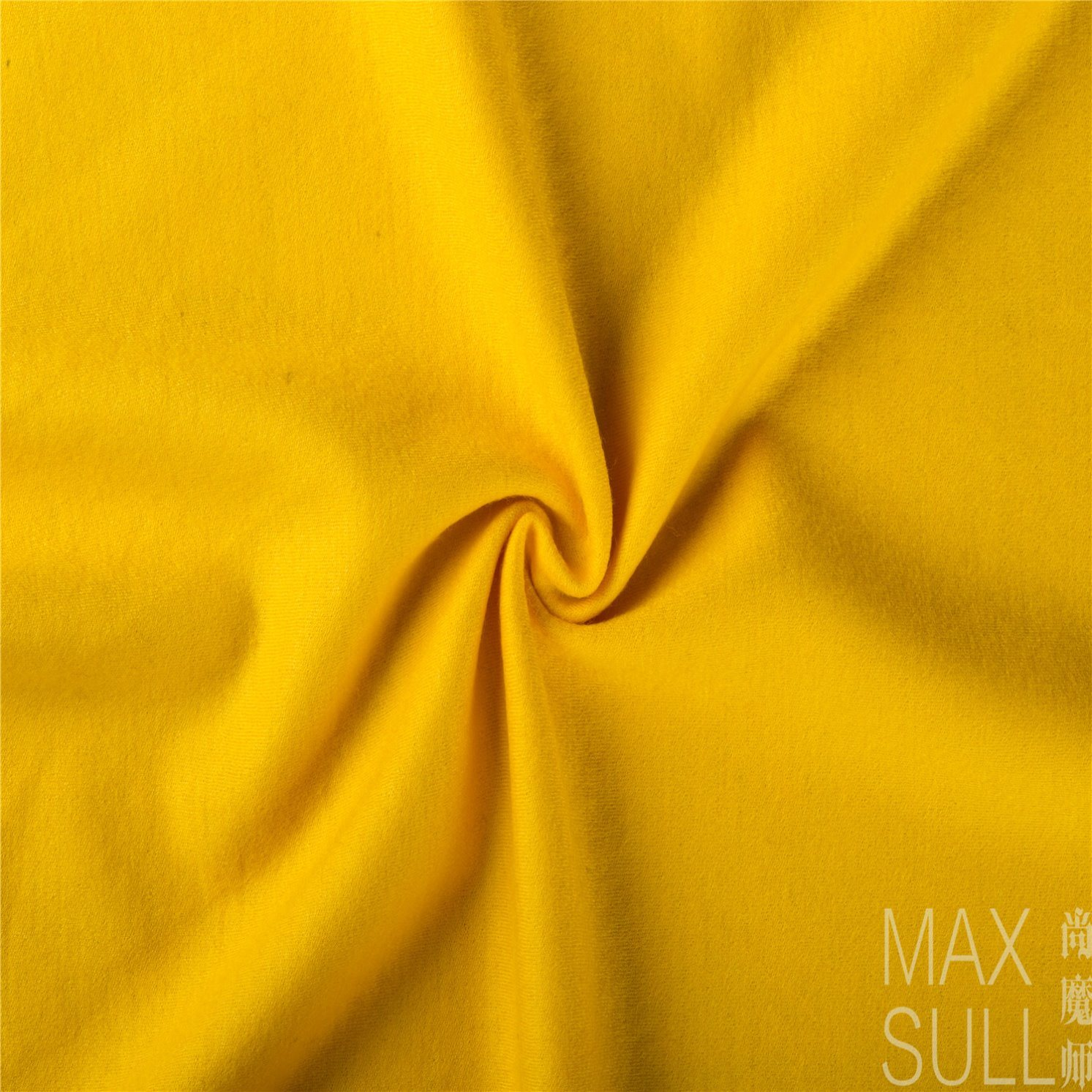100% Wool Durable Fabric for Winter in Yellow