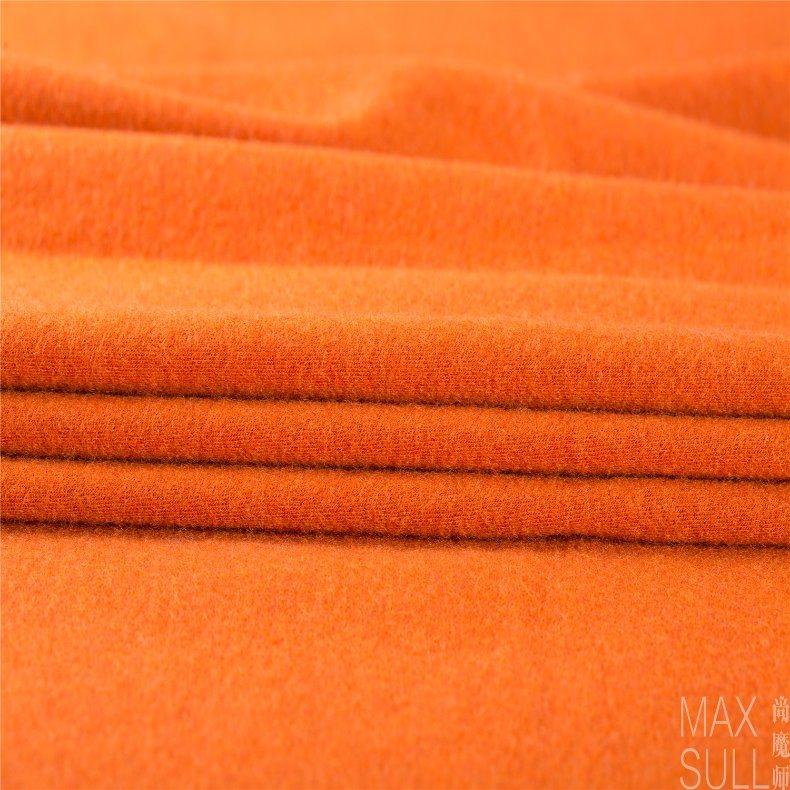 Wool/Nylon Fabric Good Elasticity in Deep Orange
