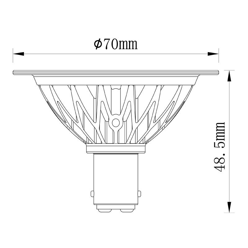 90ra 2500k 7W Dimmable LED Spotlight Ar70 Bulb (L)