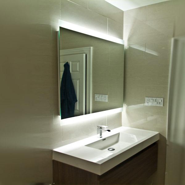 Us Hotel Modern Vanity Mirror Custom Backlit Bathroom Mirror