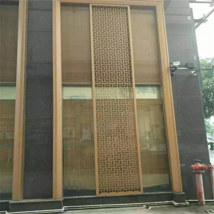 Decorative Outdoor Metal Screen Exterior Wall Panel Facade Screen
