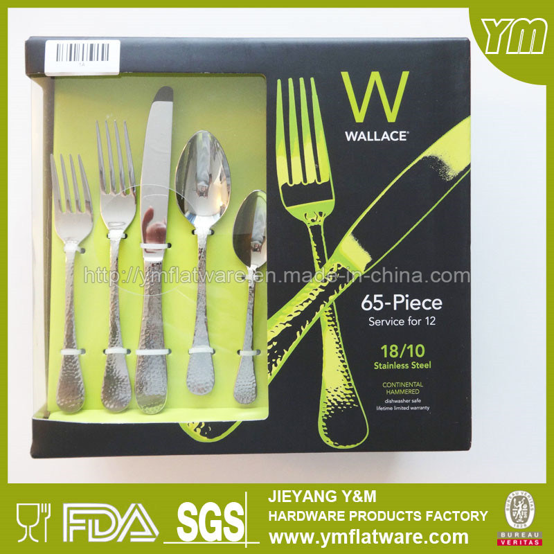 65 PCS /24 PCS Promotional Stainless Steel Flatware Set as Gift