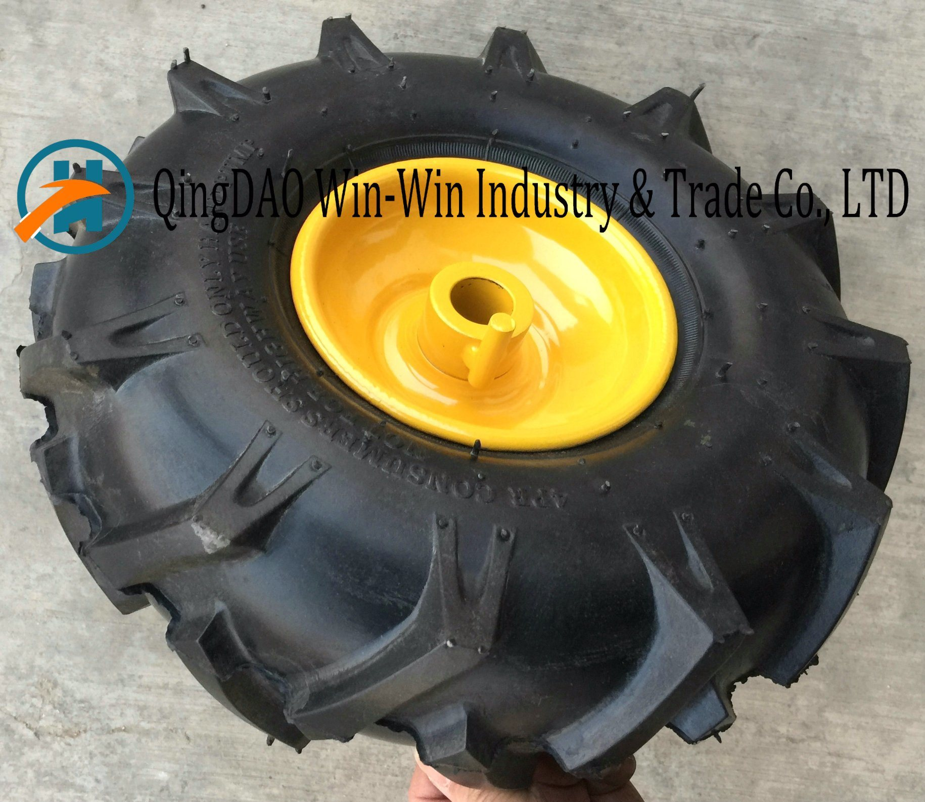 Colorful Wheelbarrow Wheel for Tool Cart Snow Machine Sweeping Machine