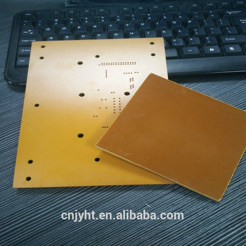 Orange-Red/Black Phenolic Paper Bakelite Sheet PCB Insulation Board