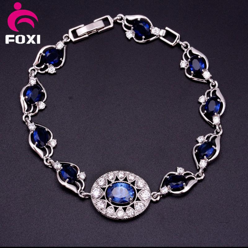 Fashion Copper Gold Plated Zircon Charm Bracelet Jewelry