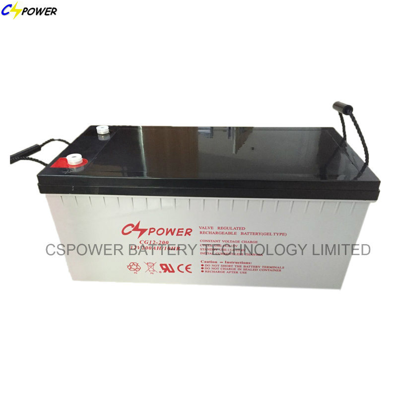 12V200ah High Temperature Deep Cycle Solar Gel Battery with 20years Longer Life