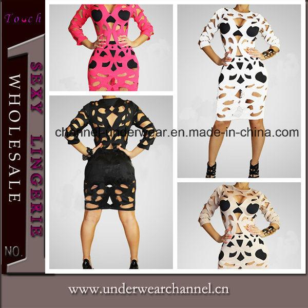 Wholesale Stylish Sexy Women Cut-out Club Wear Dress (TP4546)