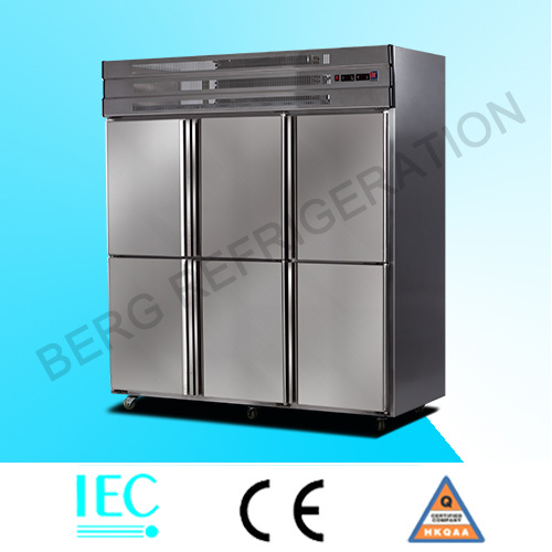6 Door Stainless Steel Upright Freezer