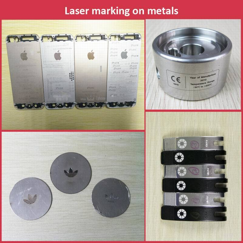 Fiber Laser Marking Machine with Automatic Rotary Chuck, Round Pallet Worktable