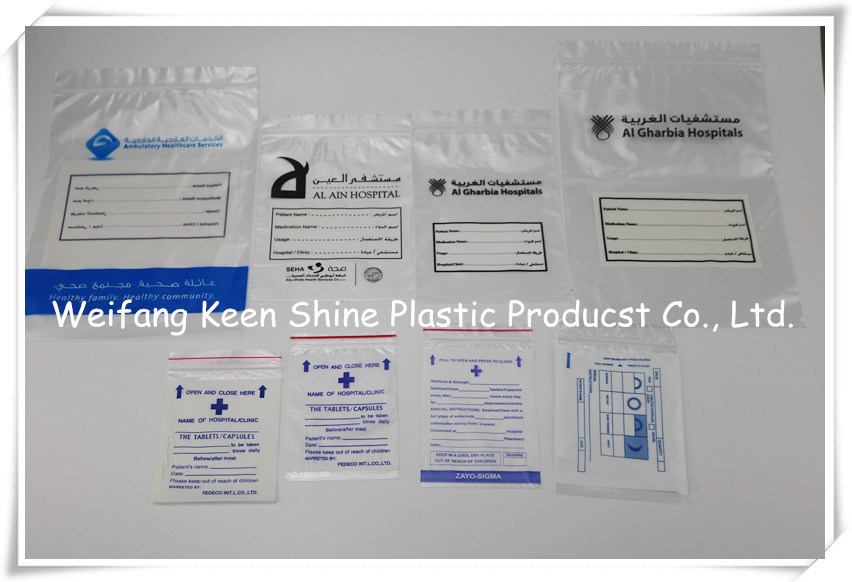 Plastic Zip / Zipper / Ziplock / Ziploc / Zip Lock Bags for Medicine / Tablets