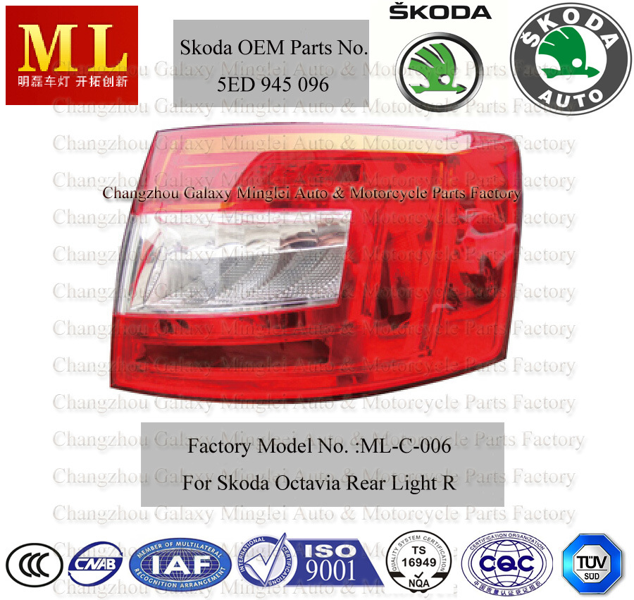 Auto Tail Light for Skoda Octavia From 2012 (5E5 945 112)