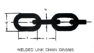 Welded Link Chain DIN5685