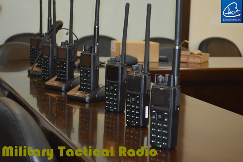 High Security VHF/UHF Digital &Analog Army Radio with AES-256 Security Encryption