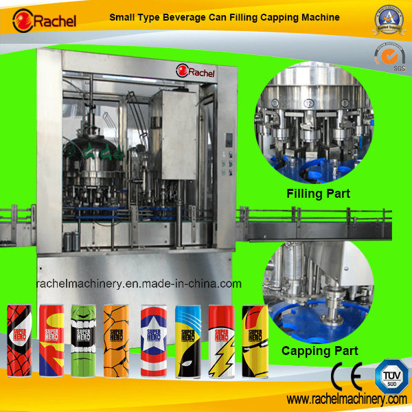 2 in 1 Automatic Beverage Can Filling Sealing Machine