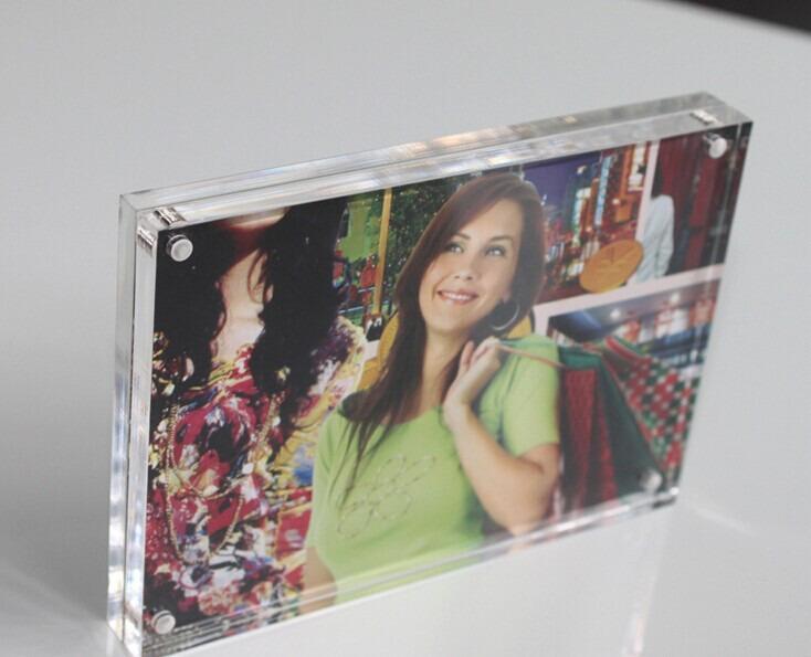 2016 New Style Acrylic Photofunia/Photo Frame, Acrylic Magnetic Photo Frame