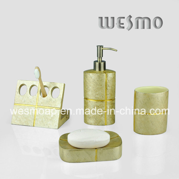 Golden Polyresin Bathroom Accessory (WBP0304A)