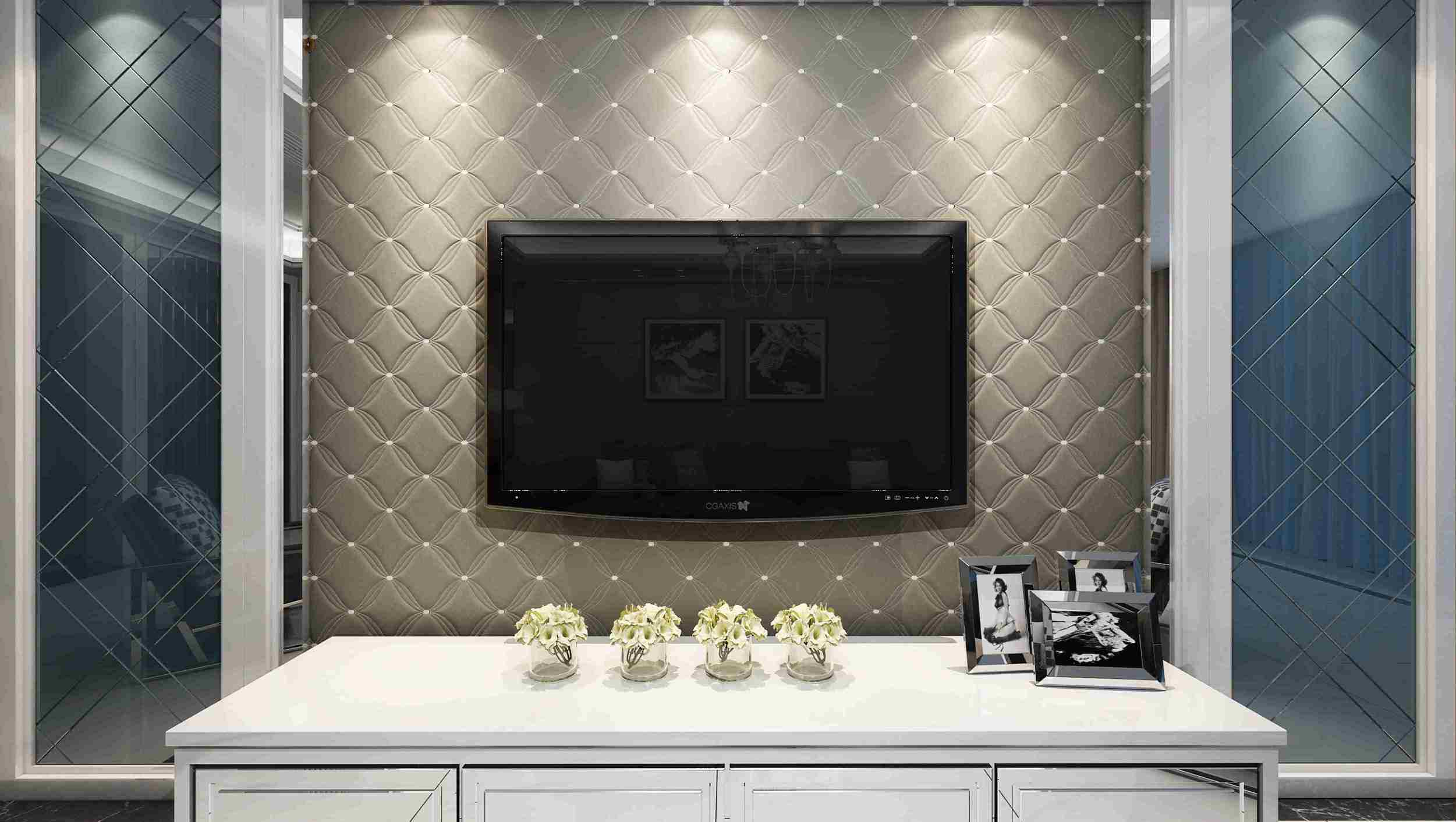 Customized Leather 3D Panel SL-011 for Indoor Wall Decoration
